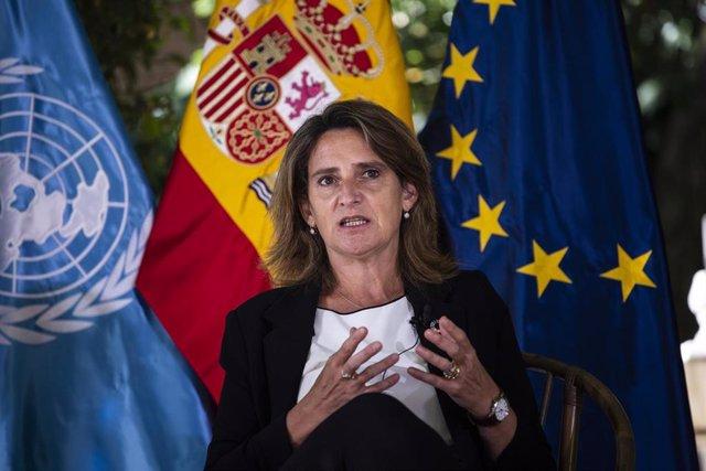 La vicepresidenta cuarta y ministra para la Transición Ecológica, y el Reto Demográfico, Teresa Ribera