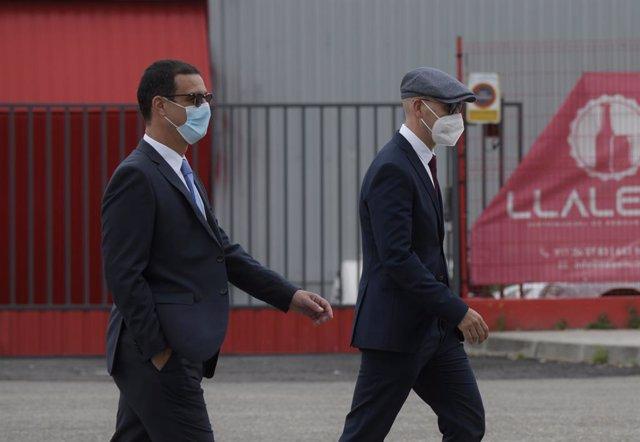 Arxiu - Els mossos Carlos de Pedro (e) i Xavier Goicoechea (d) arriben a l'Audiència Nacional