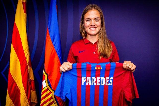 La nueva jugadora del Barça Femení, la central española Irene Paredes, que firma hasta junio de 2023