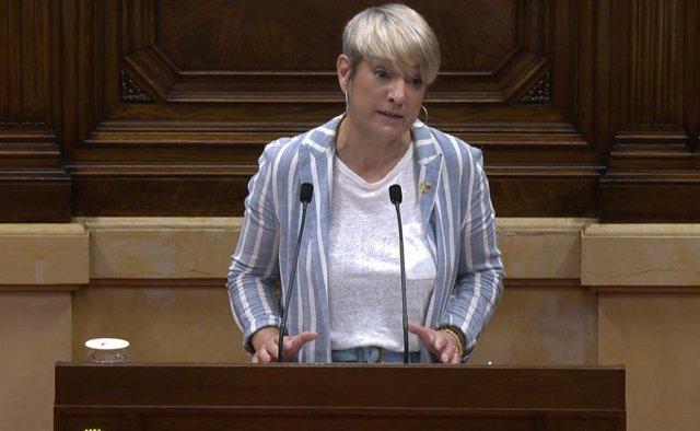 La consellera de Justícia de la Generalitat, Lourdes Ciuró, al Parlament