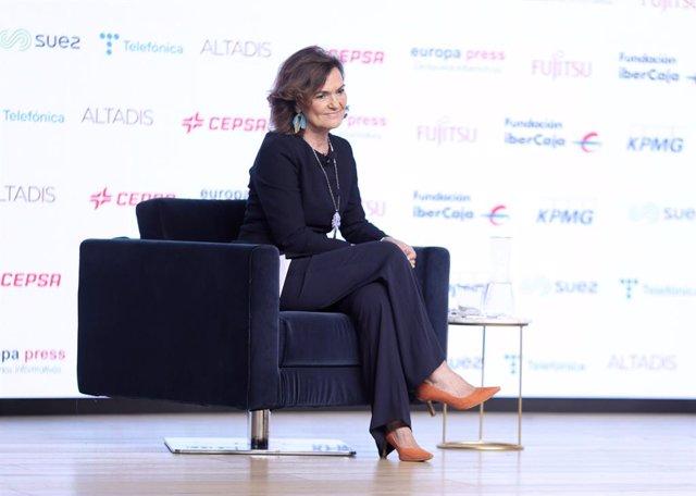 La vicepresidenta primera del Govern central i ministra de la Presidència, Relacions amb les Corts i Memòria Democràtica, Carmen Calvo