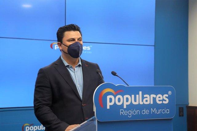 El secretario general del PP en la Región de Murcia, José Miguel Luengo