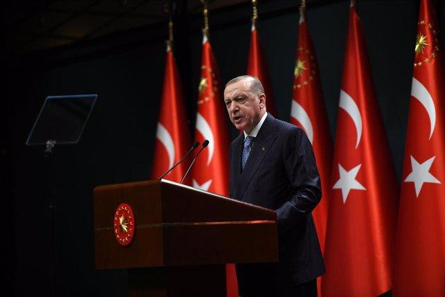 Archivo - Recep Tayyip Erdogan, presidente de Turquía