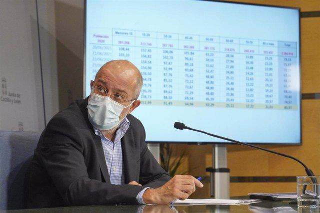 Imagen de archivo del vicepresidente y portavoz d ela Junta, Francisco Igea, tras el Consejo de Gobierno