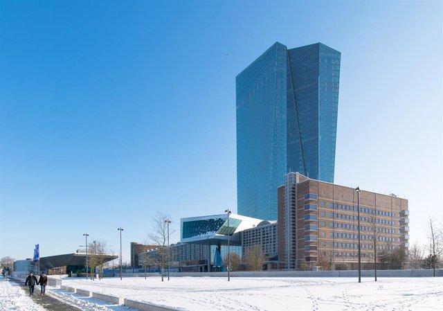 Archivo - Sede del Banco Central Europeo