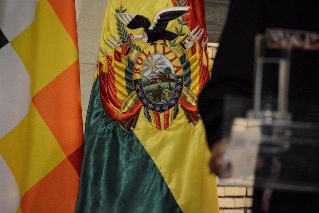 Archivo - Bandera de Bolivia.