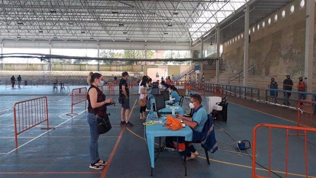 Vacunación de covid-19 en las instalaciones deportivas de San José.