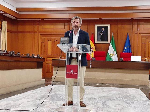 El concejal delegado de Presidencia, Seguridad, Vía Publica y Movilidad del Ayuntamiento de Córdoba, Miguel Ángel Torrico (PP).