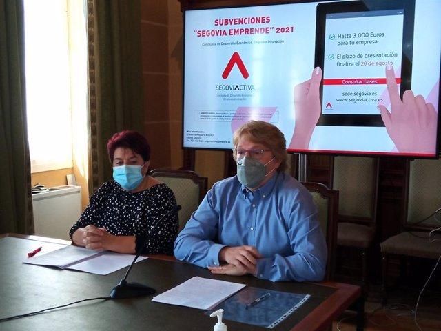 Luquero en la presentación de 'Segovia emprende 2021'
