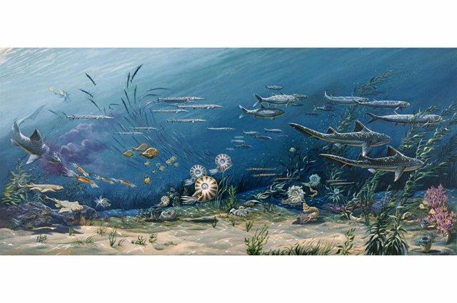 Archivo - Recreación de la biodiversidad en los antiguos océanos