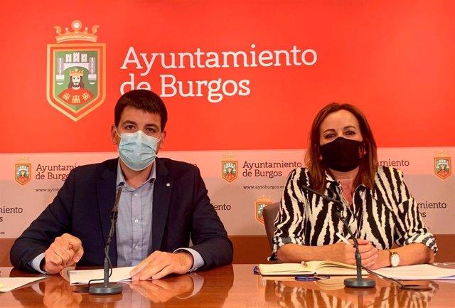 El portavoz del equipo de Gobierno en funciones, David Jurado y la presidenta del IMCyT, Rosario Perez Pardo.