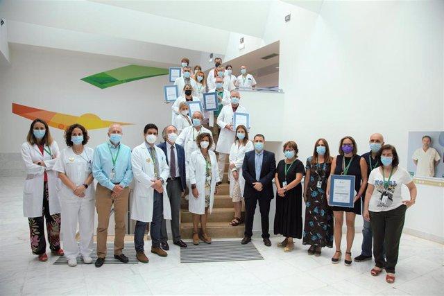 Siete unidades del Hospital Universitario Clínico San Cecilio de Granada consiguen la certificación de calidad