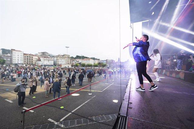 Prueba piloto de verbenas en fiestas en A Coruña, Galicia (España)