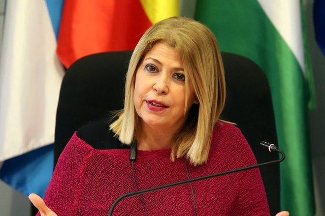 Archivo - Mamen Sánchez, alcaldesa de Jerez, en una foto de archivo.