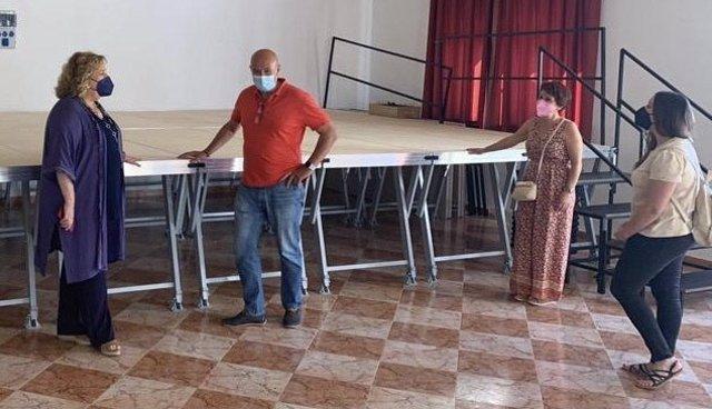 Un programa de la Diputación de Granada permite a Colomera mejorar la instalaciones para ampliar su oferta cultural