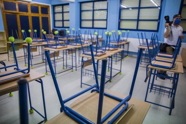 Archivo - Aula del Colegio de Educación Infantil y Primaria Hispalis en Sevilla (Andalucía, España), a 31 de agosto de 2020.