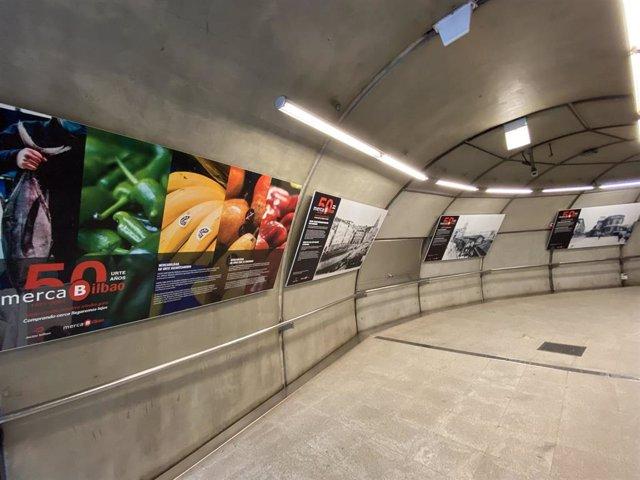 Exposición del 50 aniversario de Mercabilbao en la estación de Cruces de Metro Bilbao