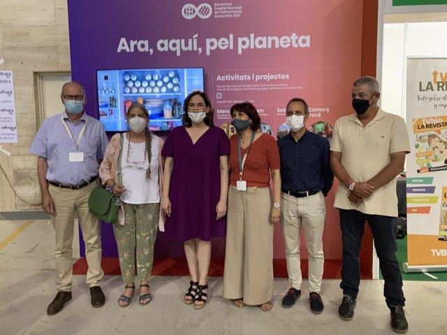 L'alcaldessa de Barcelona, Ada Colau, durant la seva visita a BioCultura