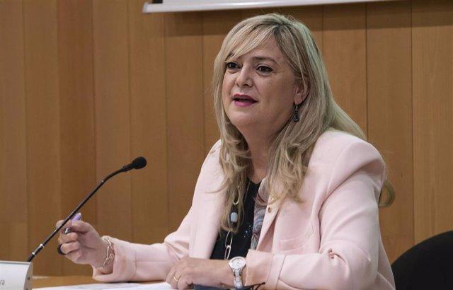 La consellera de Derechos Sociales de la Generalitat, Violant Cervera, durante su intervención este viernes en la tercera edición del Congreso de la Acción Social - Inclusió.Cat.