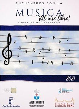 Cartel 'Encuentros con la música' en Torralba de Calatrava