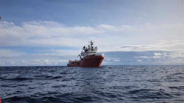 Archivo - El barco de rescate 'Ocean Viking'