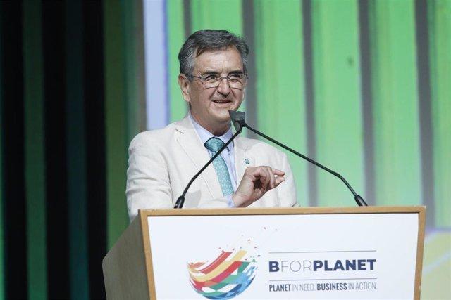 El director de medio ambiente en la OCDE, Rodolfo Lacy, durante la inauguración del salón BforPlanet, en la Fira de Barcelona, a 7 de julio de 2021, en Barcelona, Catalunya (España).