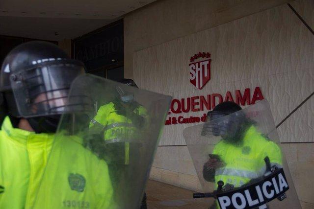 Policía en Colombia.