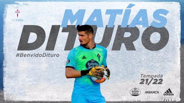 Matías Dituro, nuevo jugador del RC Celta