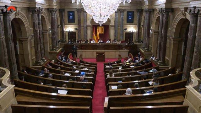 Ple del Parlament de la sessió del 7 i 8 de juliol.