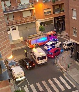 Intervención en la calle Lardero de Logroño