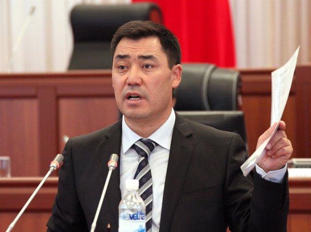 Archivo - El presidente de Kirguistán, Sadir Japarov