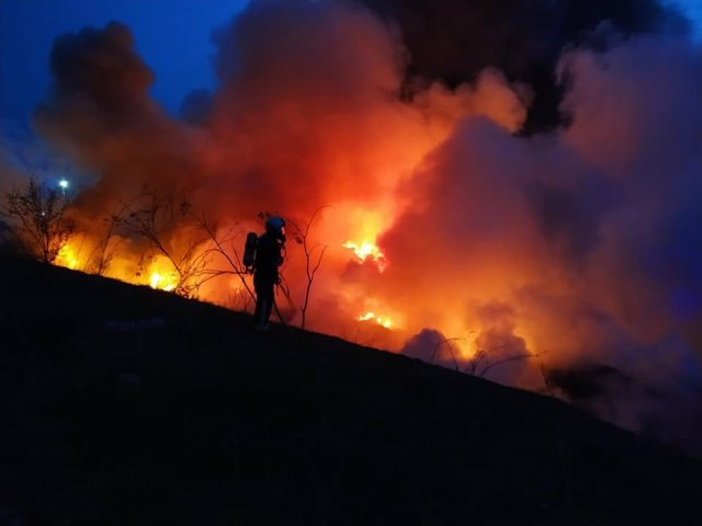 Archivo - Imagen del incendio en el Cerro de los Palos de Toledo