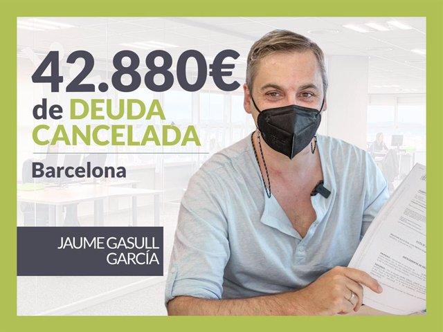 Jaume Gasull, exonerado con Repara Tu Deuda