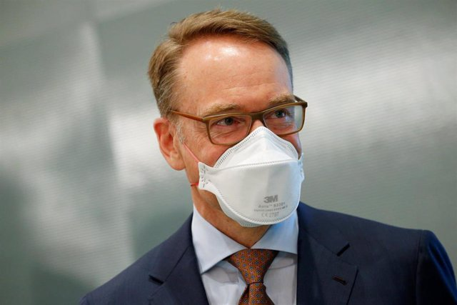 23 June 2021, Berlin: President of the central bank of Germany (Deutsche Bundesbank) Jens Weidmann arrives to attend the weekly cabinet meeting at the Chancellery. Photo: Michele Tantussi/Reuters/Pool/dpa