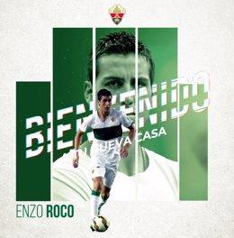 El central chileno Enzo Roco regresa al Elche siete años después.