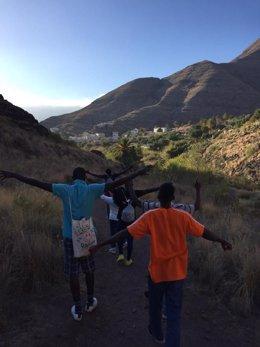 Menores migrantes en el municipio de Moya (Gran Canaria)