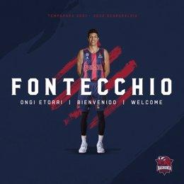 El alero italiano Simone Fontecchio firma tres temporadas por el Baskonia