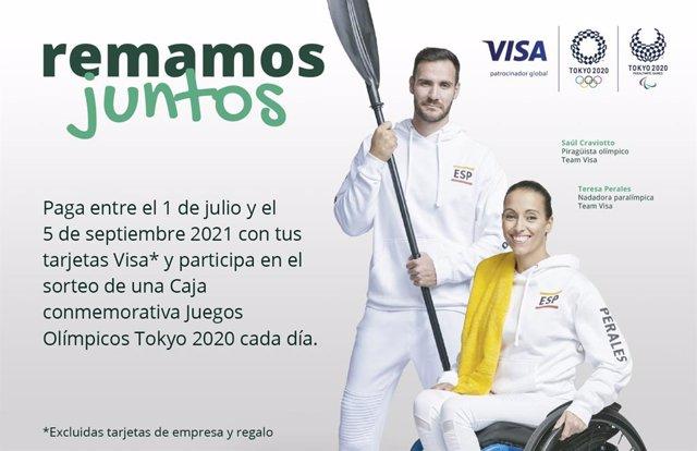 Campaña de Visa y Caja Rural de Asturias 'Remamos juntos'.