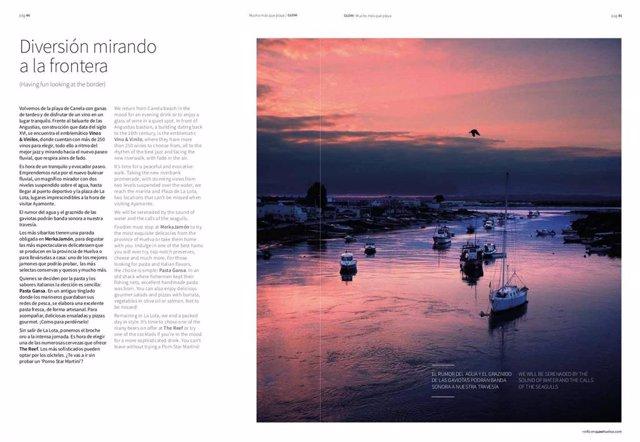 Página de la revista Glow Huelva.