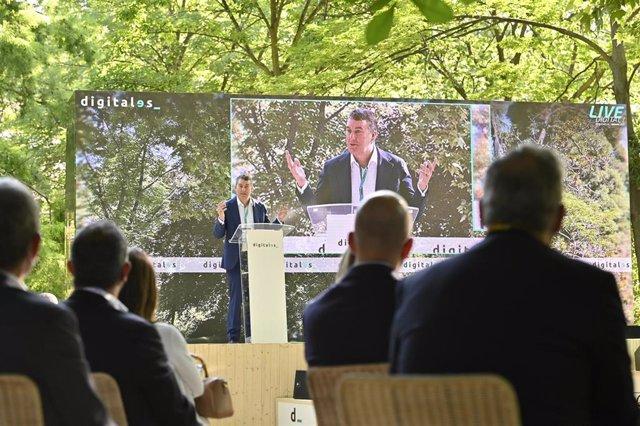 Colman Deegan, CEO de Vodafone España,  durante su intervención en la cuarta edición del congreso DigitalES Summit 2021.