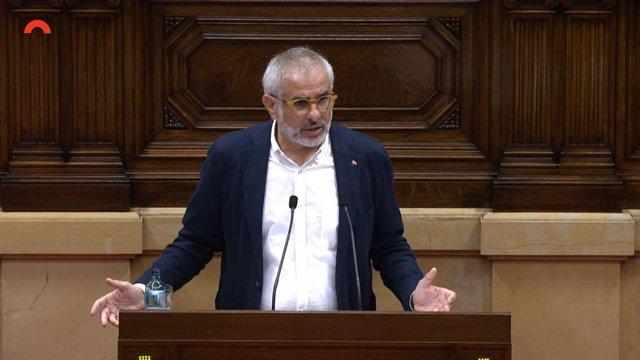 Arxiu - El líder de Cs al Parlament, Carlos Carrizosa