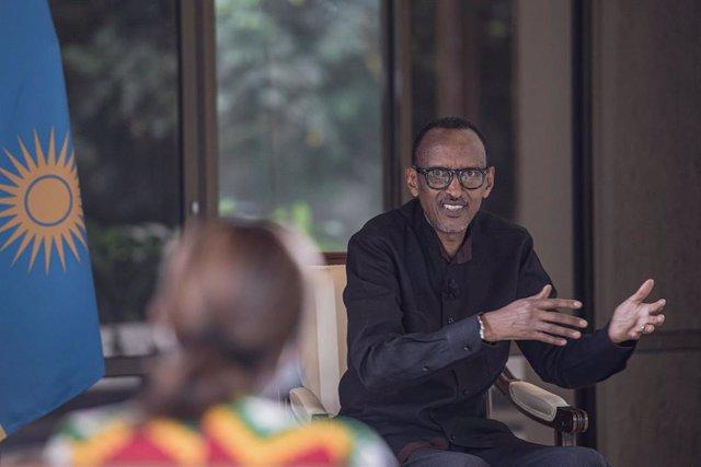 Archivo - El presidente de Ruanda, Paul Kagame