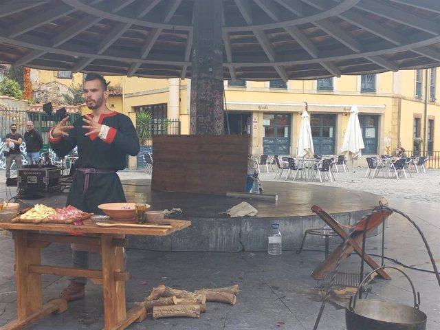 Actividades medievales en Oviedo.