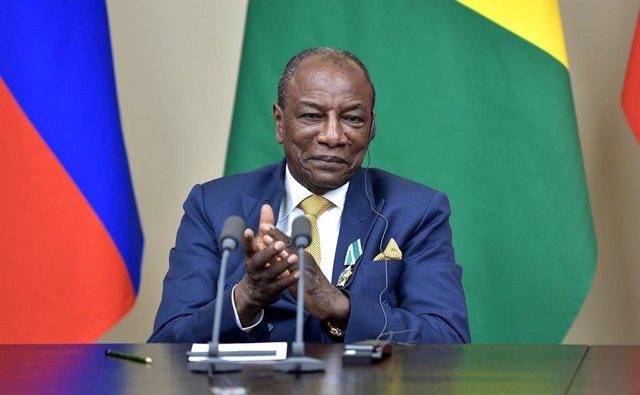Archivo - El presidente de Guinea, Alpha Condé