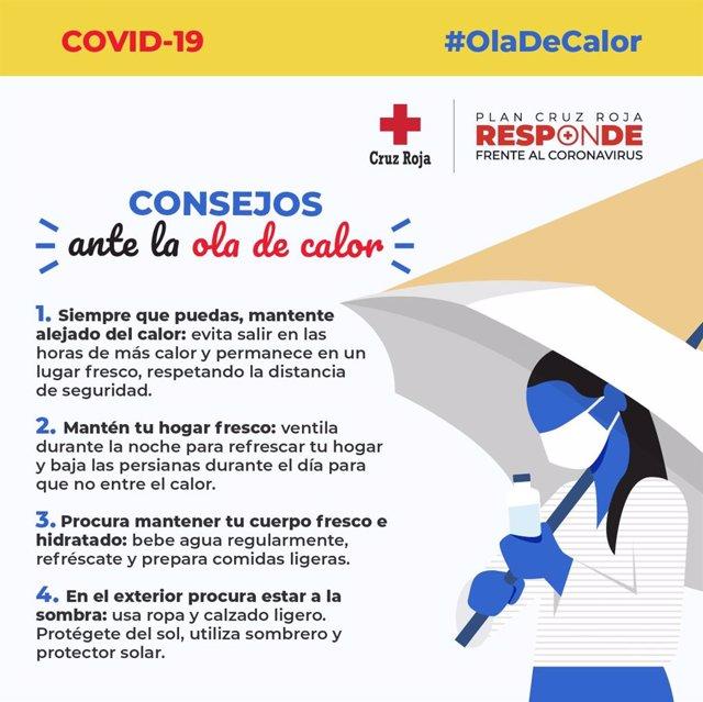 Consejos de Cruz Roja frente al calor