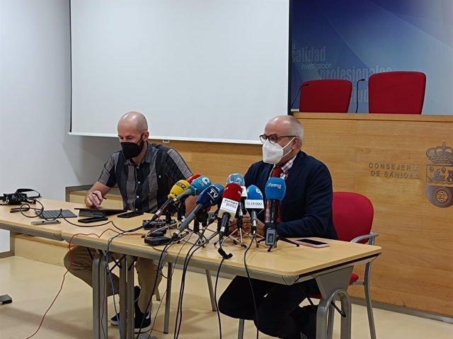 El consejero de Sanidad y el director general de Salud Pública, Miguel Rodríguez y Reinhard Wallmann
