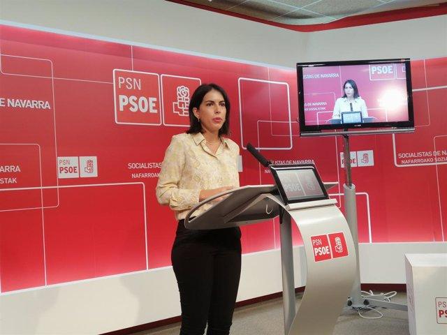 Archivo - La eurodiputada del PSN, Adriana Maldonado