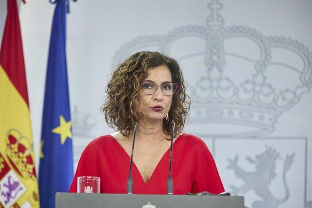 La ministra portavoz del Gobierno y ministra de Hacienda, María Jesús Montero