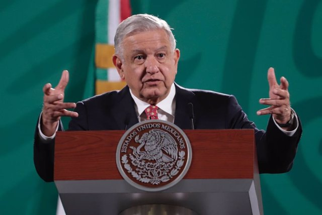 05 July 2021, Mexico, Mexico City: Mexican President Andres Manuel Lopez Obrador speaks during his daily press conference at the National Palace. Photo: El Universal/El Universal via ZUMA Wire/dpa