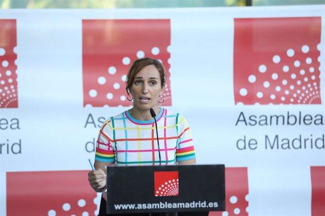 Mónica García, portavoz de Más Madrid en la Asamblea regional